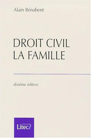 Droit civil. La famille, 10ème édition