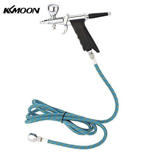 Kkmoon professionale doppia azione multi-purpose gravità alimentazione pistola a spruzzo grilletto airbrush set con il tubo flessibile 3 punte 3 coppe spray modello spazzola di aria
