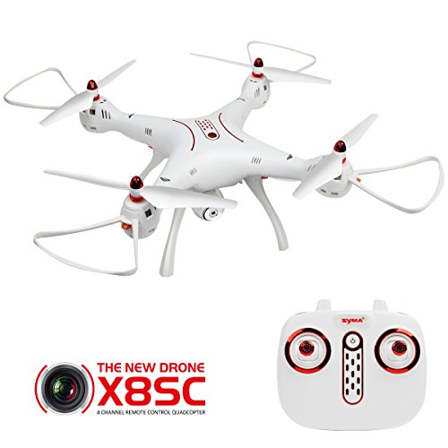 Rc quadcopter dodoeleph syma x8sc 4 canali 2.4ghz 6 assi giroscopio telecomando ufo drone con 1mp hd camera holding altitudine e modalit¨¤ senza testa funzione rtf elicottero per principianti