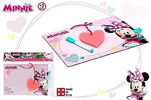 ColorBaby- Minnie Pizarra rotulador borrable 28x20 Cm, Multicolor (Color Baby 77109)