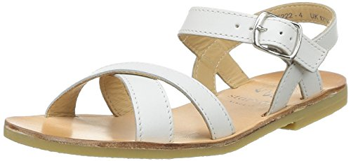 Start Rite - Nice II, sandali  per bambine e ragazze, bianco(blanc (white leather)), 27