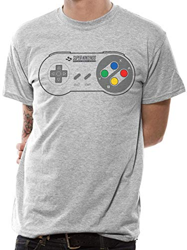 Licensed Nintendo SNES Controller Pad T-Shirt for Men