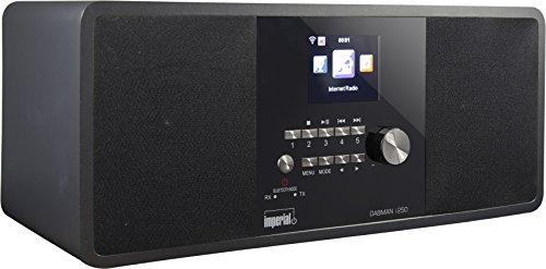 Imperial 22-281-00 Dabman i250 Internet-/DAB+ Radio (Stereo Sound,Bluetooth,Internet/DAB+/DAB/UKW,WLAN,LAN,USB,Aux In,Line-Out,Kopfhörer Ausgang,inkl. Netzteil) schwarz-schwarz