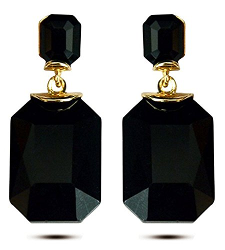 Youbella Jewellery Black Gold-Plated Dangle & Drop Earrings For Women