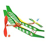 Newin Star Segelflugzeug Modell mit Elastischem Gummimotor DIY Spielzeug Flugmodell Versammlung Kinder Spielzeug (zufällige Farbe)