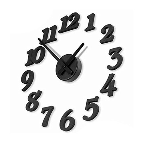 fangfei Reloj de Pared Digital de DIY el Reloj de Pared 3D engomada de la Decoración de la Decoración de Ministerio del Interior