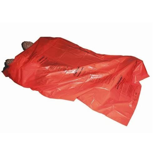 41YJTyqJKyL. SS500  - HIGHLANDER LARGE DOUBLE SURVIVAL BIVI BIVVY BAG ORANGE