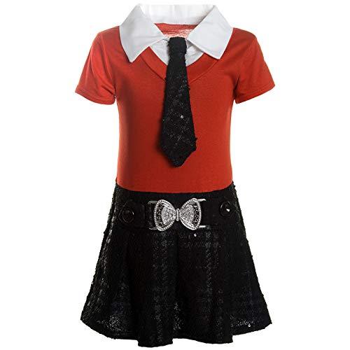 Orange Kleid Kostüm - BEZLIT Mädchen Kleider Peticoat Festkleid Freizeit