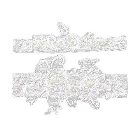 JUNGEN Lace Bridal Garter for Wedding and Hen Night Bridal