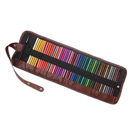 MagiDeal 48 Farben Aquarell Bleistift Set / Zeichnung Kunst Wasserlösliche Buntstifte Supplies Roll...