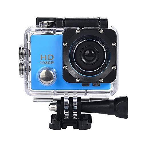 Gaddrt Sport Kamera Digitalkamera Wasserdichte Kamera HD 1080P Sport Action Kamera DVR Cam DV Video Camcorder (Blau)