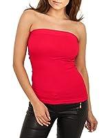 Berry Belle Copa Long Damen Top Bandeau Strapless Top trägerlos Polster Push Up Oberteil div. Farben S/M - L/XL