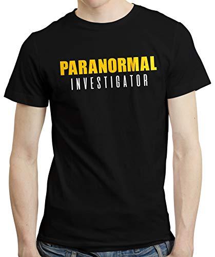 PugSwag Men Paranormal Investigator Ghost Hunter T-Shirt Black XX-Large