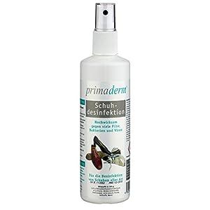 PrimaDerm Schuhdesinfektion im Spray, Desinfektionmittel gegen Pilze, Bakterien und Viren in Schuhen, Schuhdeo, 100ml