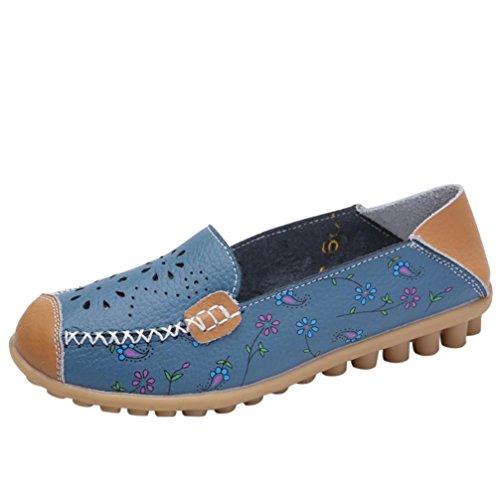 ❤️Amlaiworld Femmes Chaussures Brodées Décontractées Chaussures Plates Extérieures Molles Pois Légers Chaussure Bateau