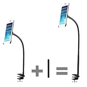 TaoTronics Support d'iPad à pince réglable / Support de bureau réglable pour iPad Mini 1 / 2 pincé au bureau ou au lit , avec 360 degrés réglable bras col de cygne (75cm) (TT-HS04)