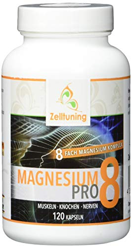 Zelltuning Magnesium-Komplex Pro 8, OPTIMAL BIOVERFÜGBAR, hochdosiert mit natürlichen Spurenelementen, ideal als Vitamin D-Aktivator geeignet, 120 Kapseln, vegan, Reinsubstanzen ohne Zusätze! -