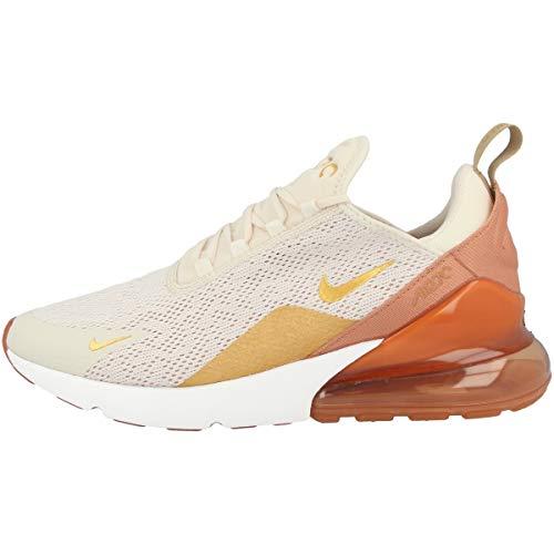 Nike Damen W Air Max 270 Leichtathletikschuhe, Mehrfarbig (Light Cream/Metallic Gold/Terra Blush 203), 44.5 EU (Schuhe Gold-metallic-nike)
