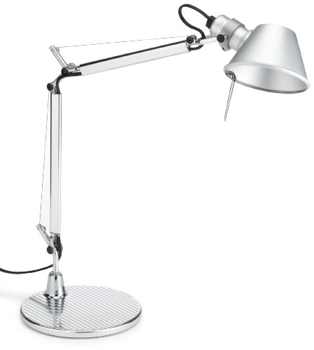 For Sale A011800 Artemide Tolomeo Micro Lamp with Foot Base E14 40 W Halogen), IP 20 aluminium