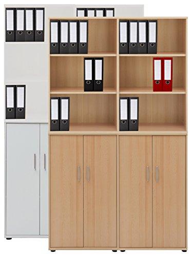 VCM 4-tlg Aktenregal Set Büro Schrank Regal Büroschrank Aktenschrank Sideboard Omegos 666