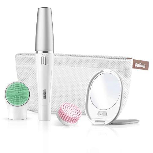 Braun FaceSpa 851 - Sistema 3 en 1 de depiladora facial, cepillo limpiador extrasuave y masaje, color...