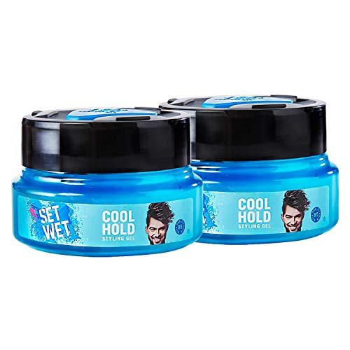 Set Wet Cool Hold Hair Styling Gel for Men, 250 ml (Pack of 2)