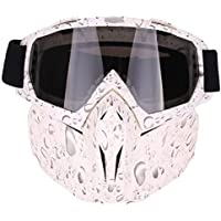 Globalqi Upgrade Motorcycle Goggles Mask Accessory Halley Goggles Off-Road Goggles Skiing Goggles Mask