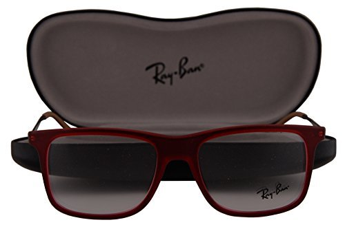 Ray-Ban RX7054 Eyeglasses 51-17-140 Rubber Red 5525 RB7054 RX 7054 RB 7054 image