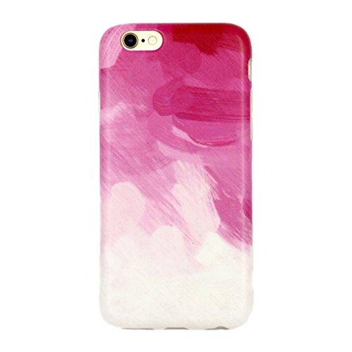 5.5 iPhone 6 Plus 6S Plus SGSELLER TPU Slim Fit Ultra Dünn Stoßfest Anti-Kratz Anti-Fingerabdruck Matt Schutzhülle Gehäuse, Plastik, Einfarbig (Qualle) Watercolour (Pink)
