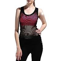 Jimmy Design Donna Gilet Palestra Fitness Racerback Yoga Canotte, donna, Black, S/M