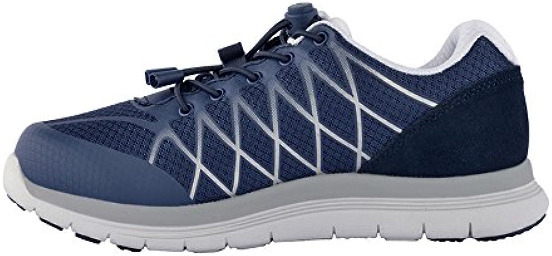 takestop - Zapatillas para Deportes de Exterior de Lona para Hombre Azul Navy