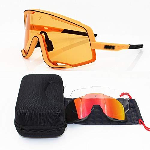 Somnrchun Mode Radfahren Sonnenbrillen Lightweight Biking Sports Wrap Eyewear for Männer/Frauen (Farbe : Gelb)
