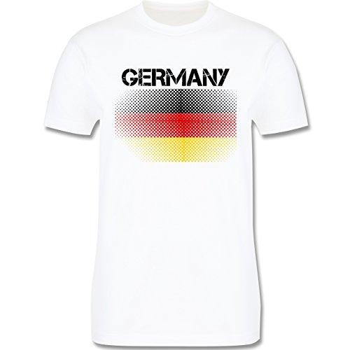 EM 2016 - Frankreich - Germany Flagge - Herren Premium T-Shirt Weiß