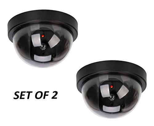 PINDIA SET OF 2 CCTV BLINKING LED DUMMY SECURITY CEILING CAMERA  available at amazon for Rs.265