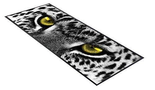GNS Schwarz & Weiß Leopard Gelb Augen Design Bar Tischläufer ideal für zuhause Bar Shop Cocktail Party Werbung Werkzeug Bar Matte ()