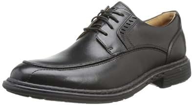 Clarks Un Rage, Chaussures à lacets homme - Noir (Black Leather), 45 EU (10.5 UK)