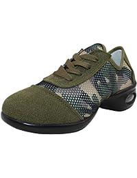 75b9e14a06b4 uirend Schuhe Sport Outdoorschuhe Tanzschuhe Damen - Mesh Lace Up Schuh  Modern Tanz Jazz Tango Gymnastik Sportschuhe…