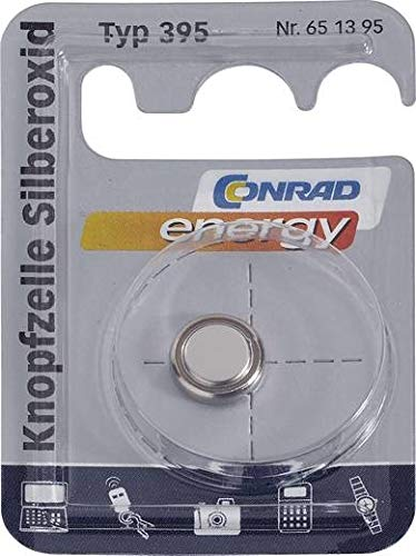Conrad batterien/Akkus – non-rechargeable Batteries (silver-oxide, Button/coin,, SR57 1,55 V, 55 mAh, 2.6 mm)