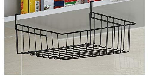 JJZHY Hängende Körbe Der Kreativen Kabinette Stapeln Speicherregalspeicherregalhauptküche,schwarz,Einheitsgröße (Stapeln Der Körbe)