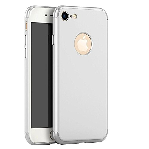 """Coque iPhone 7 Plus, Aohro 3 en 1 Hybride Ultra Mince Plating en PC [Dual Protection] Absorption de choc Anti-scratch Housse Etui Case Cover Pour Apple iphone 7 Plus 5.5""""-Or rose Argent"""