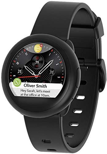 MyKronoz ZeRound3 Lite Smartwatch Schwarz TFT 3,1 cm (1.22 Zoll) - Smartwatches (3,1 cm (1.22 Zoll), TFT, Touchscreen, 72 h, 40 g, Schwarz)