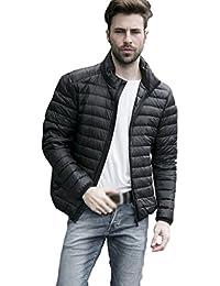 ZKOO Invierno Chaqueta de Plumón para Hombre Compresible Ligero Cazadora Plumas Acolchada Jacket