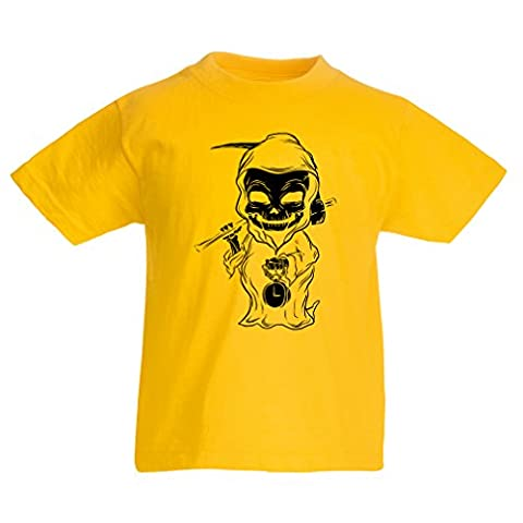 T shirts for kids The death (5-6 years Yellow Multi