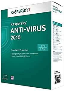 Kaspersky Anti-Virus Protection 2015 - 1 PC, 3 Years (CD) (Old Edition)