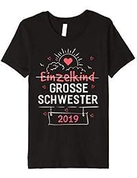 mit Einhorn Ich Bin die gro/ße Schwester Geschwisterliebe Baby Baby T-Shirt Kurzarm