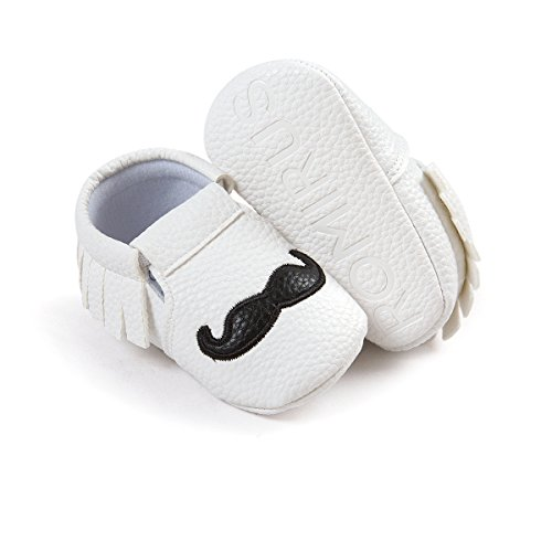 Blanc weiche Schuhe Sohle Für Schuhe schnurrbart 12 rutschfeste Monate Auxma 12 Schuhe Noir Schuhe quasten M 0 Baby 8 Weiche HCqw8q