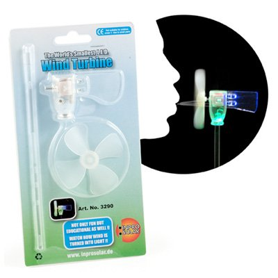 Kleinster Windgenerator der Welt - World´s Smallest Windturbine - La Plus Petit Eolienne à LED du Monde ! -