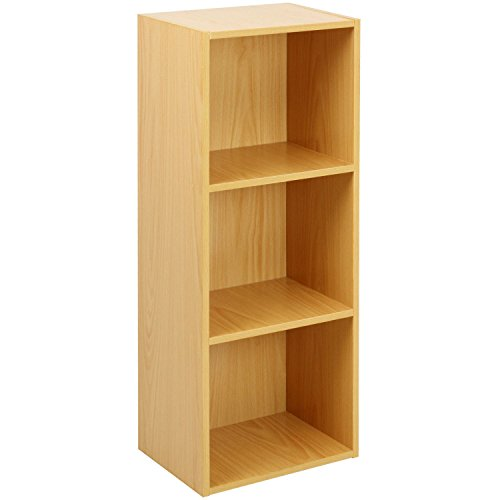 Oypla 3 Tier Holz Regal Buche Bücherregal Regal Storage Display Rack (3 Bücherregal Tier)