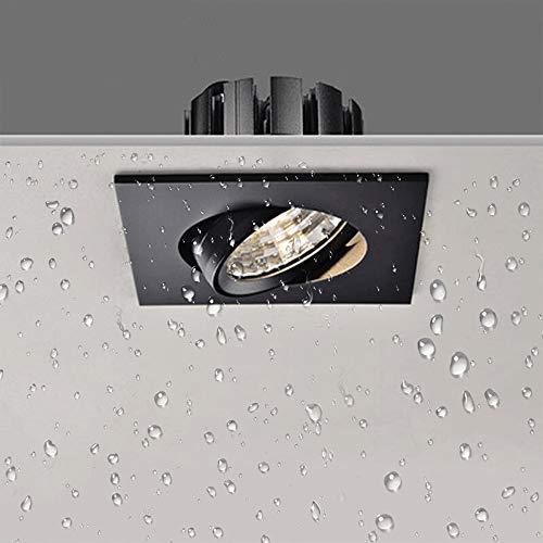 7W 110V 220V Cuadrado Incrustado Led Downlight A prueba de polvo Impermeable...