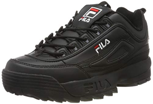 Fila Herren Disruptor Low Sneaker, Schwarz (Black 1010262-12v), 41 EU